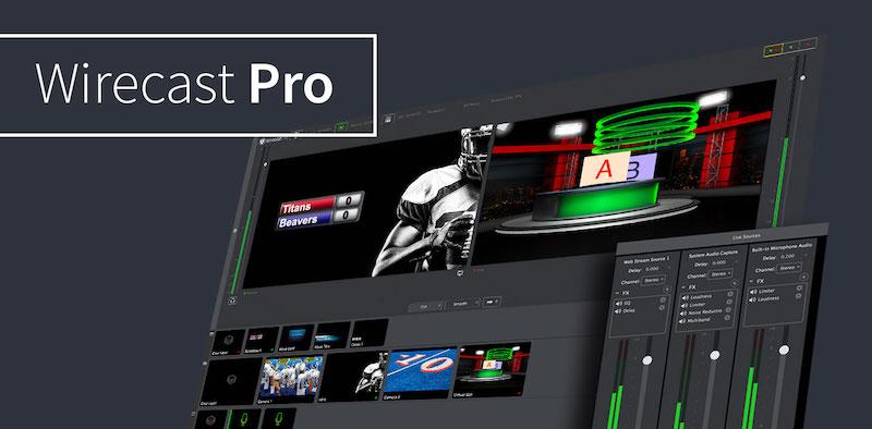 直播推流软件:Wirecast Pro 14  Windows版