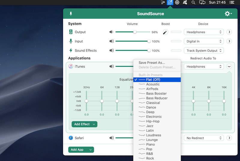 独立调节系统声音: SoundSource