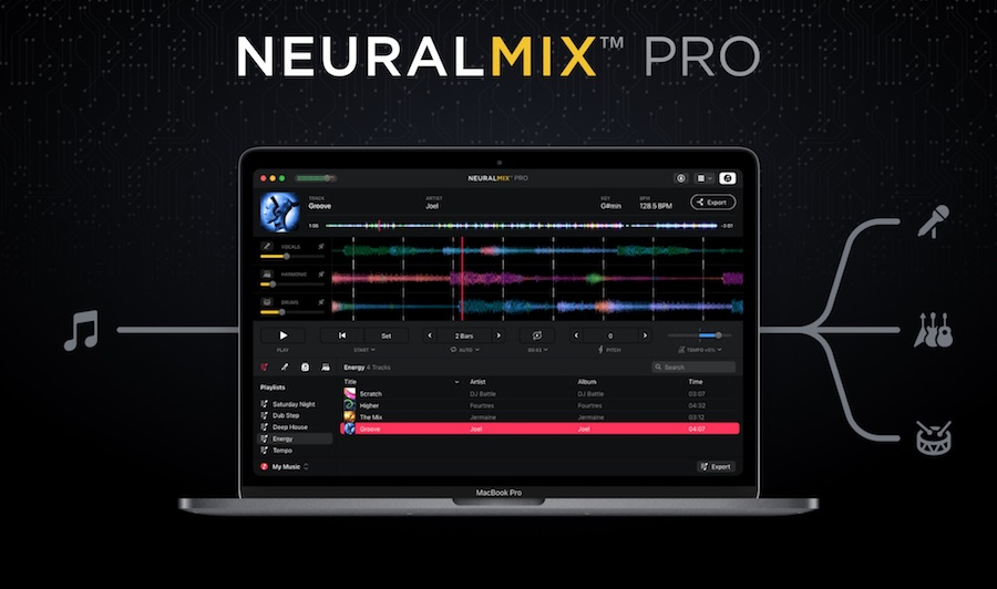 Neural Mix Pro:提取任何歌曲的节拍,乐器和人声