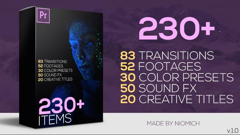 Pr模板预设包:230+ Premiere Pro Elements Big Pack