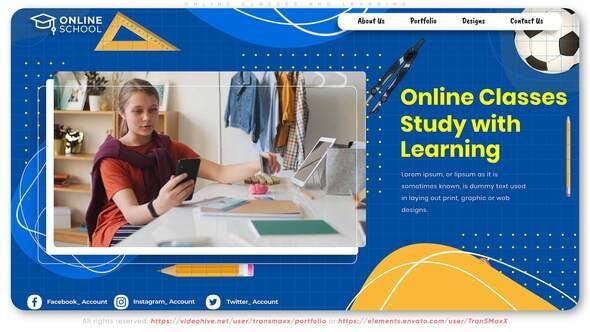 在线课程/远程学习宣传视频模板