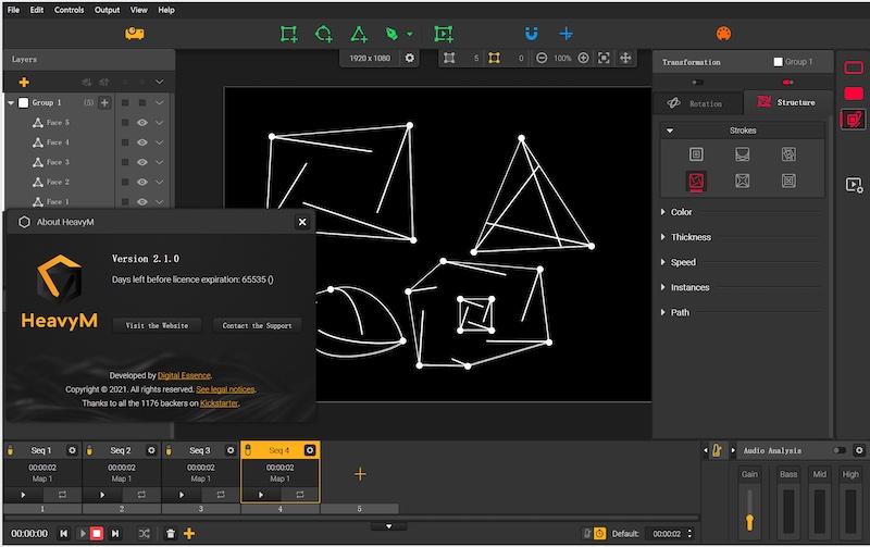 Mapping投影映射软件HeavyM 2